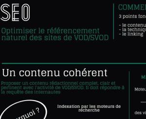 Infographie optimiser sonr référencement sites VOD
