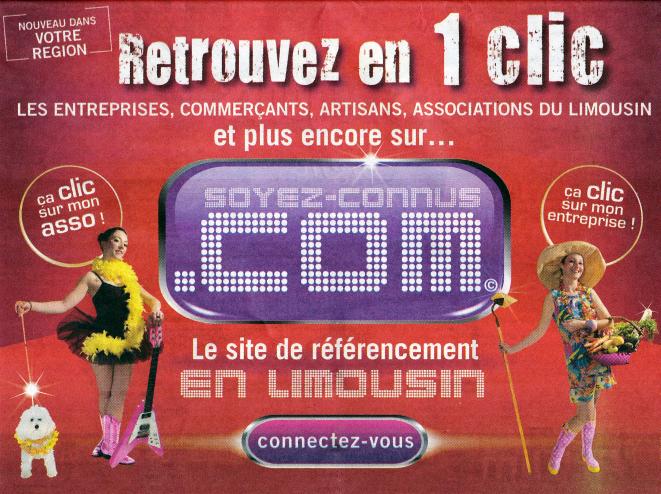 Soyez connus.com : un nouveau site web en Limousin