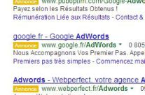 annonce adwords fond orange