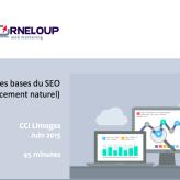 Présentation sur le référencement naturel  pour les «Rendez-vous du numérique» à la CCI de Limoges.